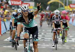 July 20, 2018 - Valence, France - VALENCE, FRANCE - JULY 20 : BURGHARDT Marcus (GER) of Bora - Hansgrohe during stage 13 of the 105th edition of the 2018 Tour de France cycling race, a stage of 169.5 kms between Bourg d'Oisans and Valence on July 20, 2018 in Valence, France, 20/07/2018 (Credit Image: © Panoramic via ZUMA Press)