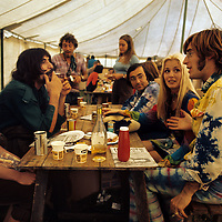 """John Sebastian - with Zal Yanovski and friends.- .A man of many faces, clean shaven in The Lovin Spoonful, but now more relaxed as he was reunited with old colleague John Sebastian. Brian Hinton in his book """"Message to Love"""" remembers him as being ubiquitous and a symbol of permanence - almost as if his presence was dependent on the success of the festival, he seemed to be everywhere!"""