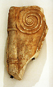 Part of the neck and handle of an Attic marble funerary loutrophoros 4th C BC