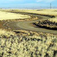 010813  Adron Gardner/Independent<br /> <br /> Navajo Route 6910 twists and turns as it branches south from Navajo Route 15 (Leupp Rd) near Leupp Wednesday.