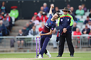 Lancashires Graham Onions  during the Royal London 1 Day Cup match between Lancashire County Cricket Club and Derbyshire County Cricket Club at the Emirates, Old Trafford, Manchester, United Kingdom on 2 May 2019.