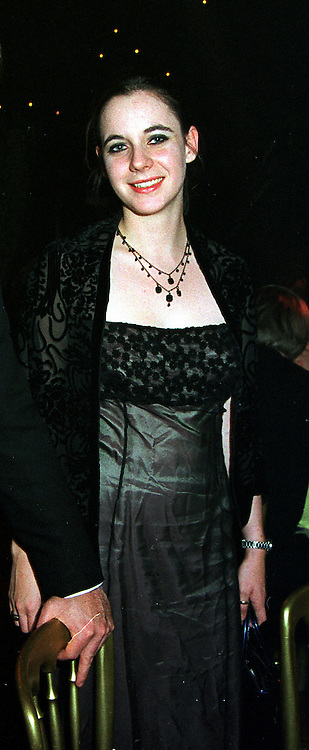 The HON.ANNUNCIATA REES-MOGG at a ball in London on 26th November 1999.MZL 43