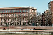Milan, empty space during the massive shut down. La Darsena sui Navigli