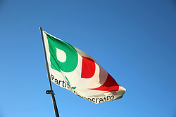 August 14, 2017 - Lavagna, Liguria / Genoa, Italy - Flag of the Partito Democratico  (Credit Image: © Alexander Pohl/Pacific Press via ZUMA Wire)
