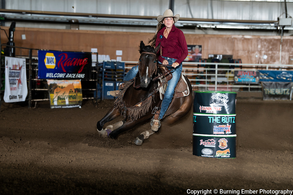 Molly Otto on No Lion Shes Flyin at the Blitz Barrel Race September19th 2020  Photo by Josh Homer/Burning Ember Photography.  Photo credit must be given on all uses.