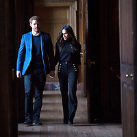 Reception at Holyrood Palace Edinburgh, Prince Harry and Meghan Markle.Photo David Cheskin.02.2018