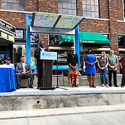 Rail Rally, Kansas City Streetcar construction, July 29, 2015. Mayor Sly James and Kansas City Council.