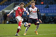 Cheltenham Town forward Alfie May (10)in action during the EFL Sky Bet League 2 match between Bolton Wanderers and Cheltenham Town at the University of  Bolton Stadium, Bolton, England on 16 January 2021.