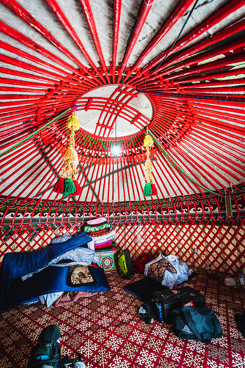The Baitor Guesthouse Yurt Camp, insulated, carpet, heated floors, electricity, and wi-fi,  Jyrgalan, Kyrgyzstan.