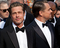Brad Pitt and Leonardo DiCaprio at the Once Upon A Time... In Holywood gala screening at the 72nd Cannes Film Festival Tuesday 21st May 2019, Cannes, France. Photo credit: Doreen Kennedy