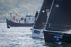 Lights winds dominated the Pelle P Kip Regatta  at Kip Marine weekend of 12/13th May 2018<br /> <br /> GBR8272T, Satisfaction, Nicholas Marshall, St Mary's Loch SC, J 92<br /> <br /> Images: Marc Turner