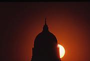 Sunrise, Capitol Dome Silhouette, Harrisburg, Pennsylvania