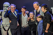 Carrie Fisher with Stephen Fry his partner and others - The European Premiere of STAR WARS: THE FORCE AWAKENS - Odeon, Empire and Vue Cinemas, Leicester Square, London.