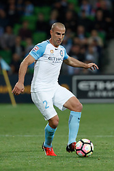 October 28, 2016 - Melbourne, Victoria, Australia - EMMANUEL MUSCAT (2) of Melbourne City controls the ball in the round 4 match of the A-League between Melbourne City and Adelaide United at AAMI Park, Melbourne, Australia. Melbourne won 2-1 (Credit Image: © Sydney Low via ZUMA Wire)