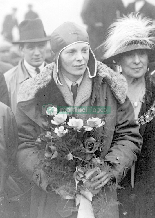 Embargoed to 0001 Thursday August 09 File photo dated June 1928 of Amelia Earhart, the first woman to fly the Atlantic, arriving at Southampton. She has been voted sixteenth in a list of women who have made the most significant impact on world history.
