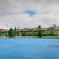 Nederland, Amsterdam , 9 augustus 2011..Tennisveld Gerbrandypark in Slotermeer, een project van de Richard Krajicek Foundation)..Foto:Jean-Pierre Jans