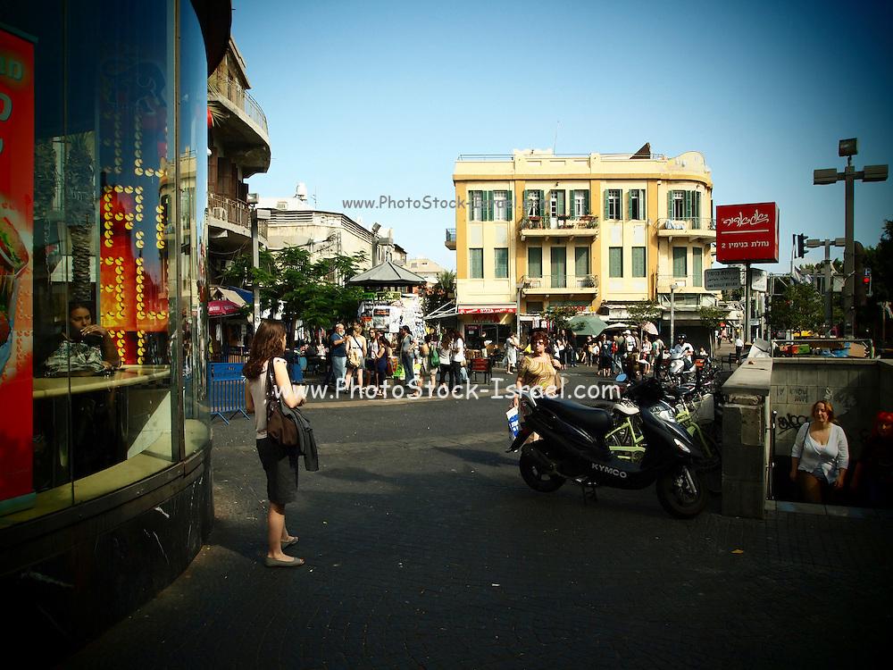 Israel, Tel Aviv Allenby street, Magen David Square, carmel market, Tel Aviv
