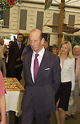 The Duke of Kent and Lady Helen Taylor\, Chelsea Flower show, 25 May 2004. ONE TIME USE ONLY - DO NOT ARCHIVE  © Copyright Photograph by Dafydd Jones 66 Stockwell Park Rd. London SW9 0DA Tel 020 7733 0108 www.dafjones.com