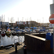 Oude Haven Huizen, zon, zonsondergang, zonsopkomst, bord, inrijverbod, boot, boten, water, kade, oever