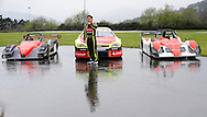 Ander Vilarino car racing driver has presented his car (Center) for the European official NASCAR Championship 2014 in the circuit of Olaberria on March 26, 2014, Basque Country. On March 27, Ander Vilarino will begin with trainings in Nogaro Circuit, France. (Ander Gillenea / Bostok Photo)