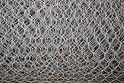 Roll of chicken-wire close up pattern