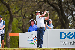 March 24, 2018 - Austin, TX, U.S. - AUSTIN, TX - MARCH 24: Cameron Smith watches his tee shot during the quarterfinals of the WGC-Dell Technologies Match Play on March 24, 2018 at Austin Country Club in Austin, TX. (Photo by Daniel Dunn/Icon Sportswire) (Credit Image: © Daniel Dunn/Icon SMI via ZUMA Press)