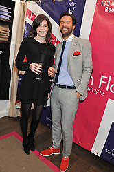 LADY LAURA CATHCART and VICOMTE ARTUR de SOULTRAIT at the launch party for the Vicomte A boutique in London at 113 King's Road, London SW3 on 13th December 2012.