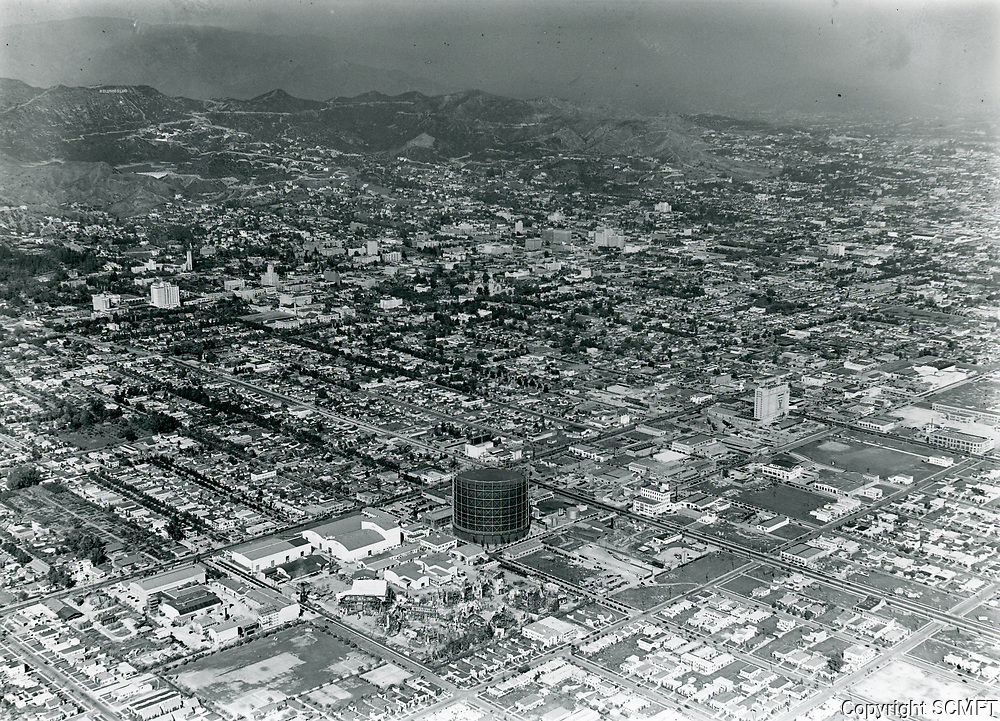 1929 Aerial view of United Artist Studio