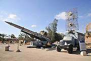 Israel, Hazirim, near Beer Sheva, Israeli Air Force museum. The national centre for Israel's aviation heritage. Anti-aircraft surface-to-air missiles P-15 Portable Radar Flatface