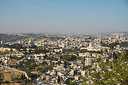 Panorama of Temple Mount and the Old City of Jerusalem