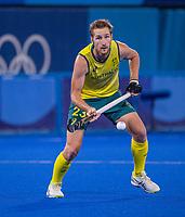TOKIO - Daniel Beale (Aus)  tijdens de hockey finale mannen, Australie-Belgie (1-1), België wint shoot outs en is Olympisch Kampioen,  in het Oi HockeyStadion,   tijdens de Olympische Spelen van Tokio 2020. COPYRIGHT KOEN SUYK
