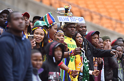South Africa: Johannesburg: Bafana Bafana supporters celebrates a goal during a match against Seychelles during the Africa Cup Of Nations qualifiers at FNB stadium, Gauteng.<br />Picture: Itumeleng English/African News Agency (ANA)