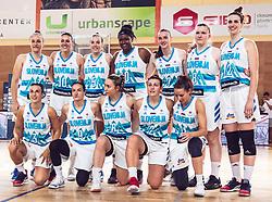 Team of Slovenia before  Women's Basketball - Slovenia vs Slovaska on the 14th of June 2019, Dvorana Poden, Skofja Loka, Slovenia. Photo by Matic Ritonja / Sportida