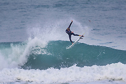 Leif Engstrom (USA) surfing in Qualifying Round Heat 2 of the WSL Redbull Airborne event in Hossegor, France.