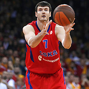 CSKA Moscow's Darjus Lavrinovic during their Euroleague Top 16 basketball match Galatasaray MP between CSKA Moscow at the Abdi Ipekci Arena in Istanbul at Turkey on Thursday, February, 09, 2012. Photo by TURKPIX