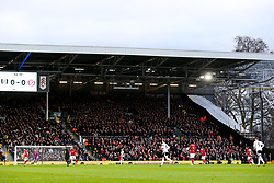 Bristol City and Fulham fans join in a minutes applause in the 2nd minute in tribute to the Afobe family following the passing of Benik Afobe's baby daughter Amora, aged 2 - Rogan/JMP - 07/12/2019 - Craven Cottage - London, England - Fulham v Bristol City - Sky Bet Championship.