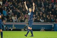 joie de Zlatan Ibrahimovic (PSG) apres son but sur penalty 100e but sous le maillot du psg