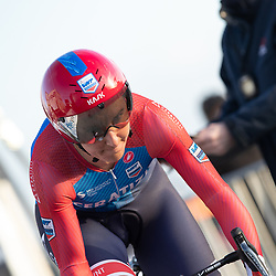 11-03-2021: Wielrennen: Healthy Ageing Tour: Lauwersoog<br />Lisa Brennauer