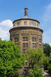 Historic  water tower (wasserturm) now apartment building in Prenzlauer berg Berlin Germany