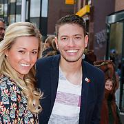 NLD/Amsterdam/20120401 - Premiere de Lorax, Ingrid Jansen met Rolf Sanchez