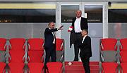 Uli Hoeness Hoeneß , Herbert Hainer , Praesident von FC Bayern Muenchen , Karl-Heinz Rummenigge , Vorstandsvorsitzender FC Bayern München AG During the Bayern Munich vs SC Freiburg Bundesliga match  at Allianz Arena, Munich, Germany on 20 June 2020.