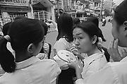 Vietnam, Hanoi: schoolgirls.