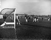 11/01/1958<br /> 01/11/1958<br /> 11 January 1958<br /> Interprovincial Mens Hockey: Munster v Leinster at London Bridge Road, Sandymount, Dublin.