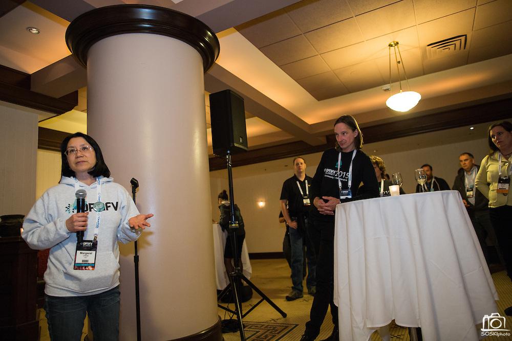 The Linux Foundation hosts its OPNFV Summit at the Hyatt Regency San Francisco Airport in Burlingame, California, on November 10, 2015. (Stan Olszewski/SOSKIphoto)