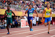 Anthony Schwartz (USA) wins the Silver Medal in 100 Metres Men during the IAAF World U20 Championships 2018 at Tampere in Finland, Day 2, on July 11, 2018 - Photo Julien Crosnier / KMSP / ProSportsImages / DPPI