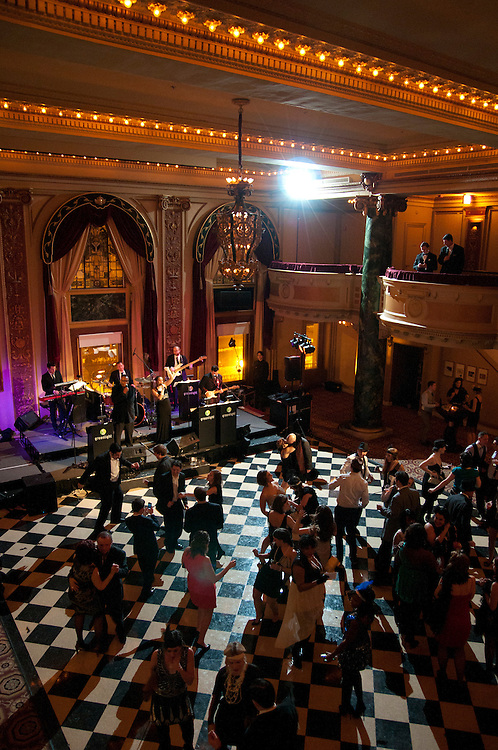 cleverbridge, Inc. hosts cleverpalooza 2013, a Great Gatsby themed social event with music, drink, raffles and dance at the School of the Art Institute Ballroom in Chicago on Saturday, February 9th. The charitable event benefits Envision Unlimited, an organization that serves people with intellectual and development disabilities. cleverbridge is a full-service e-commerce partner for companies that sell software and SaaS, providing customized, multi-channel e-business solutions in record time. © 2013 Brian J. Morowczynski ViaPhotos