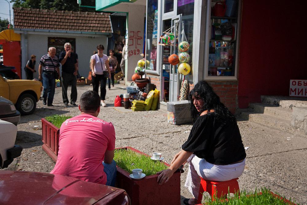 Central Kosovska Mitrovica..Border crisis, July 2011