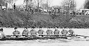 Chiswick. London.<br /> Eights starting from Mortlake<br /> NCRA, Stroke Nail GARDAM 7. Ian WILSON. <br /> 1987 Head of the River Race over the reversed Championship Course Mortlake to Putney on the River Thames. Saturday 28.03.1987. <br /> <br /> [Mandatory Credit: Peter SPURRIER;Intersport images]<br /> 1987 Head of the River Race over the reversed Championship Course Mortlake to Putney on the River Thames. Saturday 28.03.1987. <br /> <br />  1987 Head of the River Race, London. UK