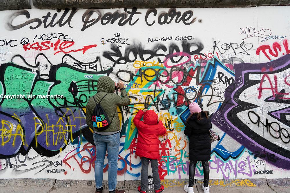 Berlin Wall at East Side Gallery in Friedrichshain , Berlin, Germany