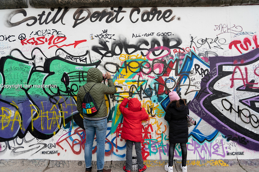 Berlin Wall at East Side Gallery in Friedrichshain , Berlin, Germany
